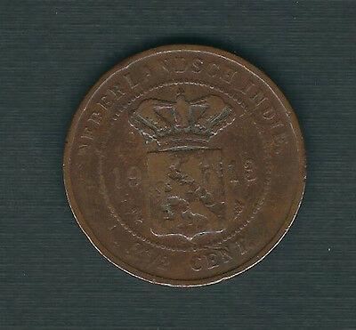 Netherlands East Indies 2-1/2 Cents 1913 F - VF