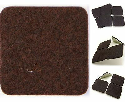 X-LARGE BROWN Furniture FELT PADS ~ 150mm x 150mm ~ Protects Wood Laminate Floor