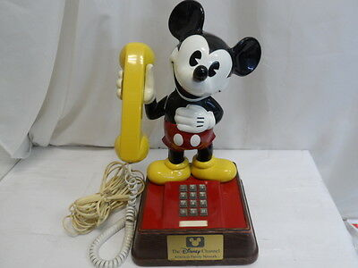 """Vintage Disney Mickey Mouse Push Button Telephone Phone 15"""" Tall (9161-1)"""