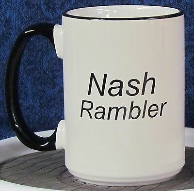 Independents Day - Nash Rambler on a 15 oz Coffee Mug with Black Handle & Rim