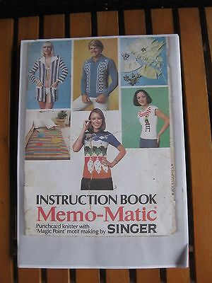 Singer Knitting Machine Model Memo-Matic 329 Instruction Book electronic copy