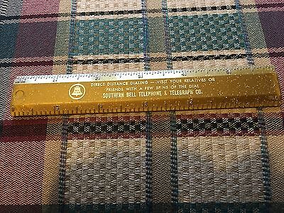 Southern Bell Telephone & Telegraph Co.  Six Inch Ruler
