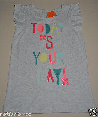 Gymboree girl size 10 NWT today is your day tee shirt top girls gray