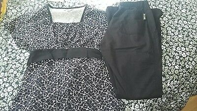 Koi by Kathy Peterson scrub set, size XS, EUC!