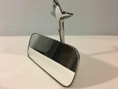 55 56 57 58 59 Chevy Pickup Truck Rear View Mirror with Bracket Chrome
