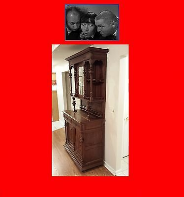 Antique Hutch Valued ^ $1500 mirrored Buffet Cabinet Furniture `PRICED to SELL`