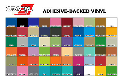 "Oracal 631 12"" x 5ft. 11 rolls total - see colors below"