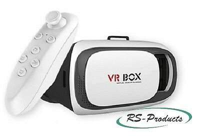 VR Box Virtual Reality 3D Brille 360° Panorama mit Bluetooth Controller