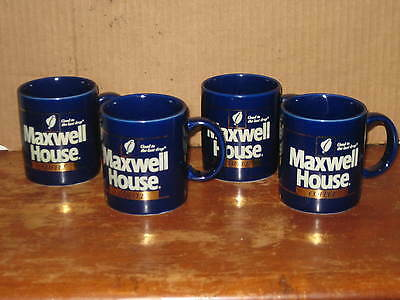 Lot 4 Maxwell House Good To The Last Drop Blue Coffee Cups Mugs