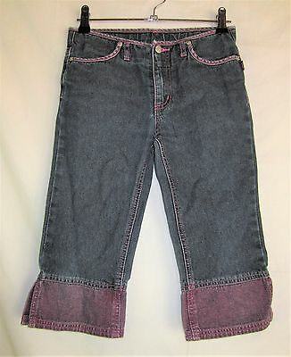 Pumpkin Patch Child's Blue Jeans With Purple Trim Size 8 Height 130 Waist 24