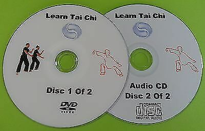 Learn Tai Chi DVD Beginners Relaxation Exercise Health Fitness & Free Audio CD