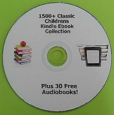 Childrens Kids Kindle Books Collection 1500+ for Ipad Nook Kobo Sony Ereader CD