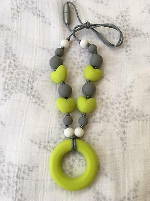 Baby Silicone Teething Necklace Nursing Jewelry Chewable Beads Teether LIME