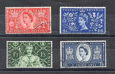 GB 1953 CORONATION Stamps Set 4v Very Fine-SUPERB USED SG532-535 Ref:X274