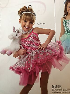 IN STOCK Pretty Pink Sequin Ballet Tutu Pageant Dress Dance Costume Child Large