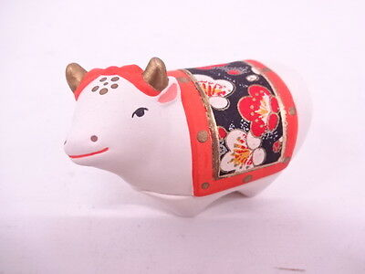 27433# Japanese Tea Ceremony / Kogo (Incense Container) / Kyo Ware / Ox / Artist