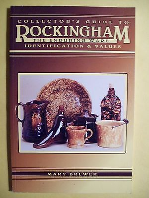 ANTIQUE ROCKINGHAM POTTERY PRICE GUIDE COLLECTOR'S BOOK Pitcher Crocks Bowls
