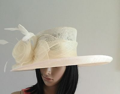 Nigel Rayment Ivory Wedding Ascot Hat  Mother Of The Bride