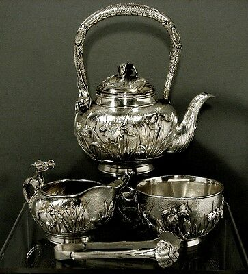 Japanese Sterling Tea Set   DRAGON                  ARTHUR & BOND