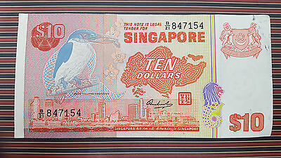 TEN DOLLAR SINGAPORE NOTE Paper Currency