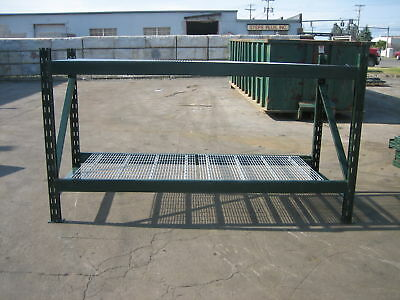 "4 Sections Ridgurak Pallet Rack 32' L X 5't X 40"" Deep"