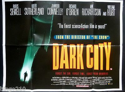 Dark City Original1998  Quad Poster Alex Proyas Kiefer Sutherland Rufus Sewell