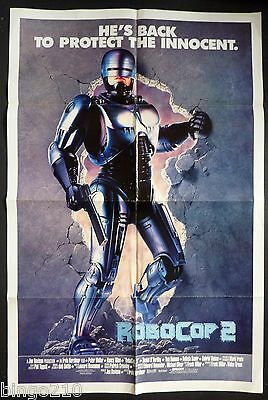 Robocop 2 Original 1990 1 Sheet Cinema Poster Peter Weller Sci Fi Action