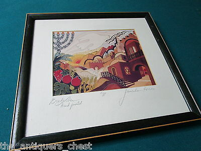 "Bracha Lavee ""Jerusalem Forever"" original color lithograph Signed Artist Proof[2"