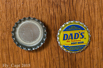 "(SET of 5)Vintage Dads Root Beer ""Draft""..plastic..unused..Soda Bottle Cap"