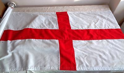 England Giant Window  St George's Flag With Pole 51 Ins X 31 Ins