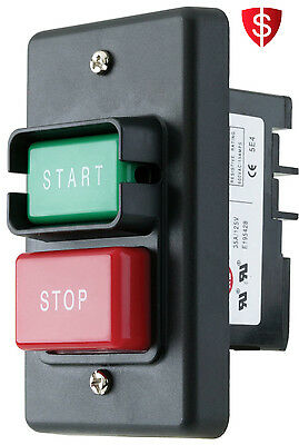 WoodStock Start Stop Switch On Off Push Power Button Single Phase Lock