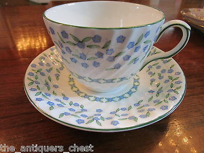 Aynsley, England, forget-me-not  pattern,  cup and saucer [15-B]