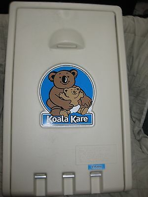 KOALA KARE KB101-00 Baby Changing Station CREAM COLOR, VERTICAL MOUNT