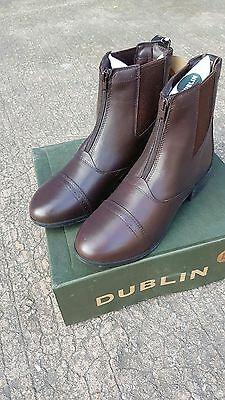 New Dublin Leather Jodhpur Boots with Zip Brown Clearance
