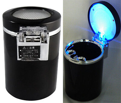 Car LED Light Cigarette Ashtray for Smoking Auto Travel Ash Holder Cup Gift JX