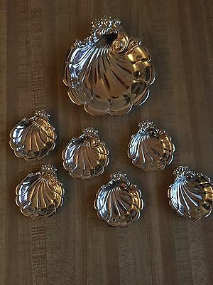Lunt Sterling Master Nut Dish Set 203 Grams Or 7.2 Ounces
