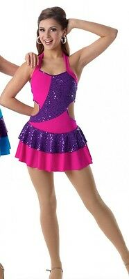 Part Of Me Dance Costume FUCHSIA Tap Dress Ice Skating Clearance Adult Large