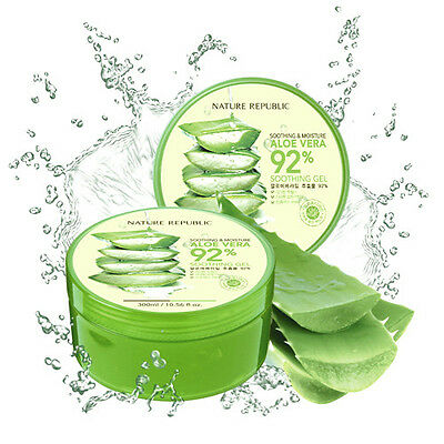 Nature Republic Aloe Vera 92% Soothing Gel 300ml Moisturiser Sensitive Skin