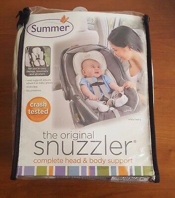 Summer Infant Original Snuzzler Ivory New Baby Head Body Support New