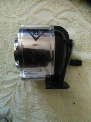 X-ACTO KS Manual Classroom Pencil Sharpener Counter Wall-Mount Black Chrome (I)