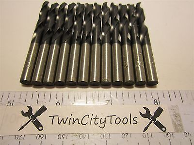"Lot Of 12 Made In USA Screw Machine Length Drill Bits Size C x 2-1/2"" New"
