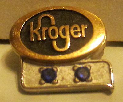 Kroger Company Employee Pin With Two Blue Stones