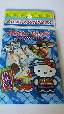 Hello Kitty Sushi Bar sack o stickers from 2004 11 designs. APPROX 55 stickers