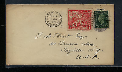Great  Britain  185  on  cover to   US           KL1202