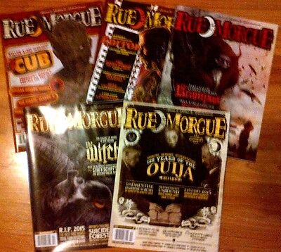 Lot 5 RUE MORGUE Horror Magazines From Sept. 2015 - Feb. 2016 18th Anv. Issue