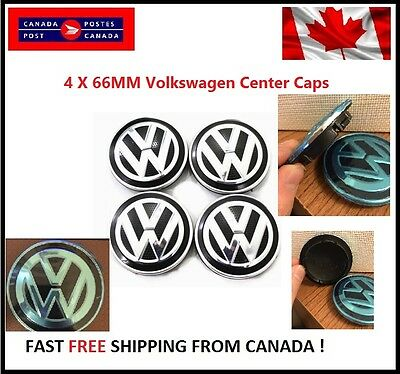NEW 4X VW VOLKSWAGEN CENTER WHEEL CAP CAPS 66MM GOLF Golf Sportwagen Alltack