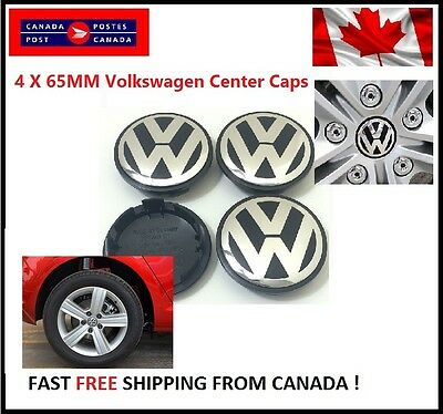 New 4X Vw Volkswagen Center Wheel Caps 65Mm Golf Gti Passat Jetta Tiguan Eos