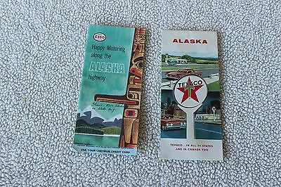Lot of 2 VINTAGE  Road Maps Alaska 1960s