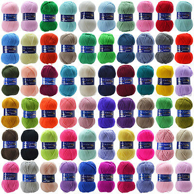 NEW FASHION DOUBLE KNIT **FREE POSTAGE** 100g   KNITTING WOOL YARN  WOOLCRAFT DK