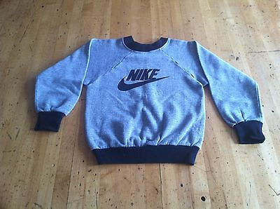 Vintage 70s NIKE ORANGE SWOOSH Kids Sweatshirt Medium Tri Blend MADE IN USA